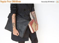 ON SALE 15% Laptop bag laptop sleeve black leather by EMILISTUDIO Leather Laptop Case, Laptop Bag, Smooth Leather, Black Leather, Laptop Covers, Laptop Sleeves, Gifts For Her, Trending Outfits, Ipad Case