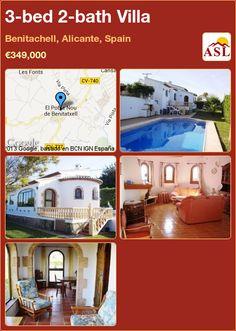 3-bed 2-bath Villa in Benitachell, Alicante, Spain ►€349,000 #PropertyForSaleInSpain