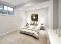 This is the bedroom in the optional finished basement of the Ashton model home in Findlay Creek. Finished Basements, New Home Builders, Semi Detached, Model Homes, Tartan, Townhouse, New Homes, Bedroom, Building