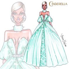 Cinderella is the protagonist of Disney's 1950 animated feature film of the same name, and the second official Disney Princess, preceded by Snow White. Disney Princess Fashion, Disney Princess Drawings, Cinderella Disney, Disney Princess Art, Disney Sketches, Princess Style, Disney Fan Art, Disney Drawings, Disney Style