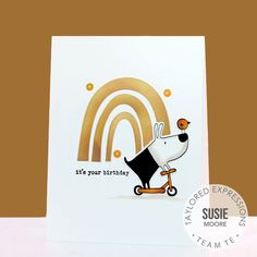 Created 4 Creativity : Color Throwdown Challenge #604 - It's Your Birthday It's Your Birthday, Birthday Cards, Dog Cards, Happy Wednesday, Embossing Folder, Craft Stores, I Card, Stencils, Card Making