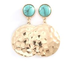 Hammered Emily Earrings on Emma Stine Limited