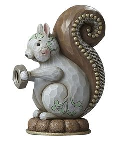 Look what I found on #zulily! River's End Squirrel Figurine by Jim Shore #zulilyfinds