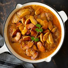 Ina Paarman | Pork Steaks with Apple Pork Steaks, Masala Spice, Fresh Coriander, Recipe Boards, Chicken Flavors, Apple Slices, Special Recipes, Chana Masala, Pork Recipes