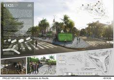 Premiados – Concurso de Ideias – Bicicletário do Recife Concept Board Architecture, Architecture Presentation Board, Presentation Layout, Futuristic Architecture, Sustainable Architecture, Amazing Architecture, Landscape Architecture, Landscape Design, Architecture Design