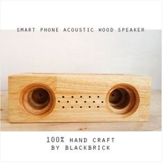 Check out this item in my Etsy shop https://www.etsy.com/listing/469077545/acoustic-wood-amplifier-speaker-for