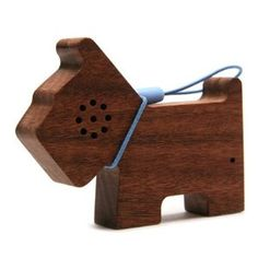 motz tiny wooden pet iPod speaker. via dog milk.