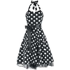 """Chic """"Big Dot Dress"""" dress    Beautiful dress - you'll look like in a 50s movie!    - with satin ribbon for lacing   - side zipper  - back length: ca. 77 cm"""