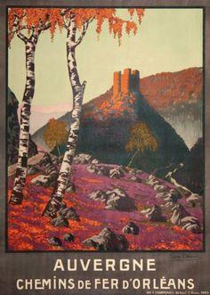 chemins de fer d'orléans - Auvergne - illustration de Géo DORIVAL - 1913 - France -