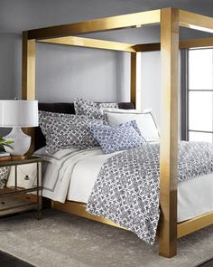 Gilded+Pressley+King+Bed+by+Bernhardt+at+Horchow.