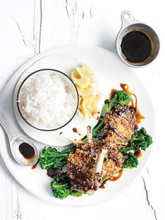 Take your crumbed lamb cutlets up a notch by adding a slight Asian twist