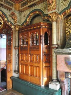 Lord Butes Bedroom Cardiff Castle Interior South Wales By William Burges