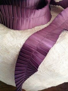 violet purple satin pleated ribbon by ShyMyrtle