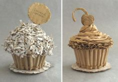 That wouldn't be my first cupcake but it would definitely be my first CARDBOARD cupcake!