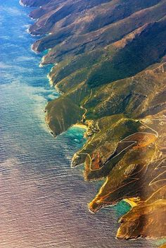 Aerial view of Kythnos Island Beautiful Islands, Beautiful Places, Greece Today, Greek Sea, Enchanted Island, Paradise On Earth, Greece Islands, Island Beach, Greece Travel