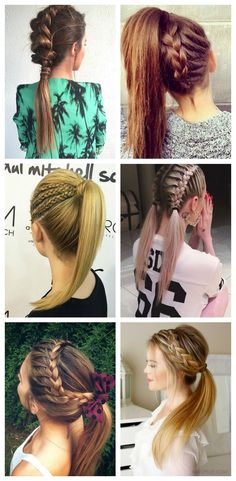 Ought to-try Braided Hairstyles Pretty Hairstyles, Braided Hairstyles, Braided Ponytail, Hair Dos, Hair Hacks, Hair Inspiration, Curly Hair Styles, Hair Makeup, Hair Beauty