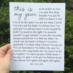 A manifesto full of dreams and hopes for 2016. :: Available as an 8x10 or 5x7 print.