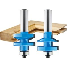 Rockler Round-Edge Matched Stile and Rail Router Bit Set - Dia x H x Shank - Woodworking Woodworking Router Bits, Woodworking Power Tools, Woodworking Logo, Woodworking Videos, Woodworking Projects, Woodworking Store, Woodworking Equipment, Wood Router, Youtube Woodworking