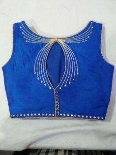 Best designer blouse sari online Want to know more --- - Saree blouse designs - Patch Work Blouse Designs, Hand Work Blouse Design, Simple Blouse Designs, Blouse Back Neck Designs, Stylish Blouse Design, Designer Blouse Patterns, Fancy Blouse Designs, Saree Blouse Designs, Sari