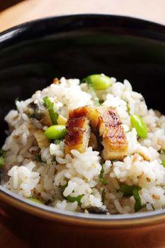 混ぜるだけ!鰻と枝豆のさっぱり梅ご飯   美肌レシピ