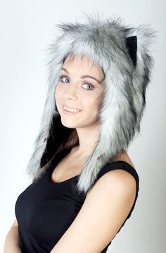 Beautiful Faux fur Beast hat Husky, mod C,  Warm, stylish and very cheap! Only €35.99