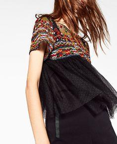 Image 2 de TOP BRODÉ de Zara