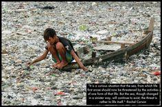 """""""É uma situação curiosa que o mar, onde surgiu a vida, agora possa ser ameaçado pelas atividades de uma dessas formas de vida. Mas o mar, apesar de ter mudado de uma forma sinistra, vai continuar a existir; a ameaça é à vida em si."""" – Rachel Carson Precisando de apoio no descarte de seus resíduos, conte com nossa busca por locais adequados em www.ecycle.com.br/postos/reciclagem.php www.eCycle.com.br Sua pegada mais leve"""