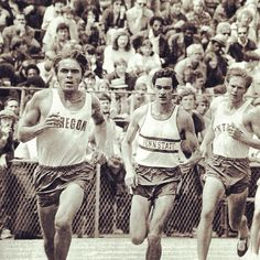 Pre winning the 5000m at the 1972 #ncaatf champs. The legend lives on. Photo by tracktownusa.