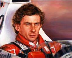Ayrton Senna portrait by artist Paul Dove. #SennaSempre #AyrtonSenna #portrait #F1