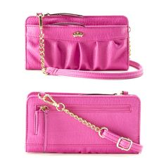 SALE Juicy Couture Convertible Wristlet Wallet NWOT / Authentic / Firm Price  Chain-link strap Convertible crossbody wallet Ruched front 4''H x 8''W x 1''D Approx. drop down length: 23'' Adjustable/removable crossbody strap Zipper closure Exterior: 2 zip pockets Interior: 4 slip pockets, ID window, zip pocket & 12 card slots Faux leather Juicy Couture Accessories