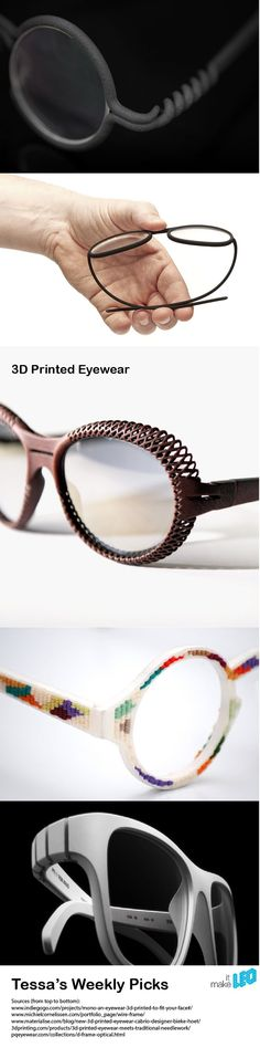 5 examples of 3D printed glasses with remarkable details. Have a closer look! | Make it LEO - Tessa's Weekly Picks Maybe something for 3D Printer Chat?