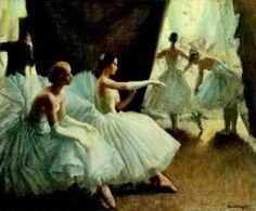 Edgar Dega, love his Ballerina paintings!