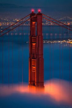 ~~Twilight Glow ~ Golden Gate National Recreation Area, California, USA by Rob Dweck~~ San Francisco, California Living In San Francisco, San Francisco City, San Francisco California, California Dreamin', Northern California, Ponte Golden Gate, Golden Gate Bridge, Beautiful World, Beautiful Places