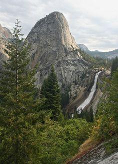 Liberty Cap and Nevada Fall ~ Yosemite Village, California