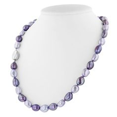 Honora Sterling Silver 9-10Mm Baroque Violet And Lilac Pearl 18inch Necklacehttp://www.bengarelick.com/collections/honora-pearls/products/honora-sterling-silver-9-10mm-baroque-violet-and-lilac-pearl-18inch-necklace