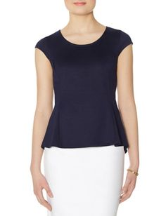 Inset Peplum Top from THELIMITED.com