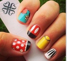 Disney Inspired Jamberry Nail wraps created in our Nail Art Studio. Perfect for you upcoming Disney trip or just for fun!  http://nailvanity.jamberrynails.net/ #disney #mickey #minnie #minniemouse #mickeymouse #daffyduck #jamberry #nailvanity #nailart