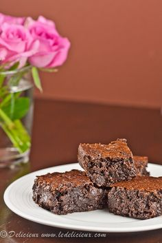 Nigella Lawsons Flourless Chocolate Brownies recipe.  Decadent, gooey and delicious!