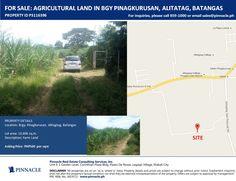 FOR SALE AGRICULTURAL LAND IN BARANGAY PINAGKURUSAN, ALITATAG, BATANGAS  More properties on http://pinnacle.ph/properties/