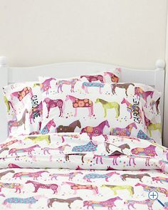 Hadlee's sheets!  She is a horse lover and these sheets are adorable!