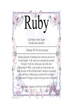 MEANING OF FIRST NAME RUBY | ruby1_pagenumber.001