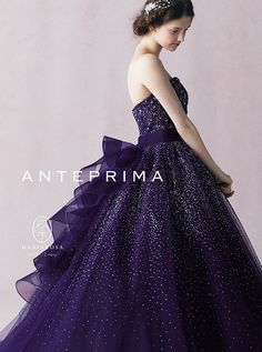 ACQUAGRAZIE_ANTEPRIMA_ANT0112 Grandes Robes, Quinceanera Dresses, Homecoming Dresses, Schick, Pretty Dresses, Purple Dress, Purple Ballgown, Colored Wedding Dresses, Bridal Dresses