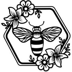 Browse the portfolio for Sophie Gallo. Be sure to check back often as artists are constantly adding new submissions to the Design Store! Cricut Craft Room, Cricut Vinyl, Silhouette Cameo Projects, Silhouette Design, Bee Silhouette, Wood Burning Patterns, Bee Art, Bee Crafts, Cricut Creations