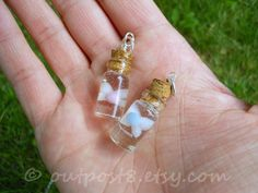 Legend of Zelda inspired pink fairy glass bottle charm by Outpost8, $18.00