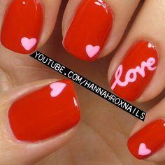 VALENTINE by hannahroxit #nail #nails #nailart