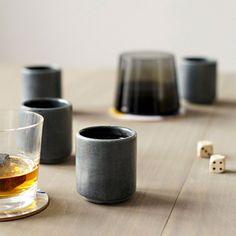 Stick these soapstone babies in the freezer and they go brrr like whiskey stone, keeping your alcohol cold without watering it down! Brilliant. $38