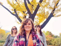 I know, we look like a girl band. But look at Koreas beautiful fall foliage!