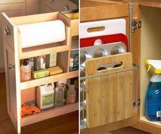 ideas para cocinas pequeñas- bajo mesadas funcionales