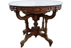 Antique Ornate Table - Grandmother had one very much like this -