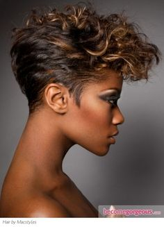 black woman short hair. Love this!